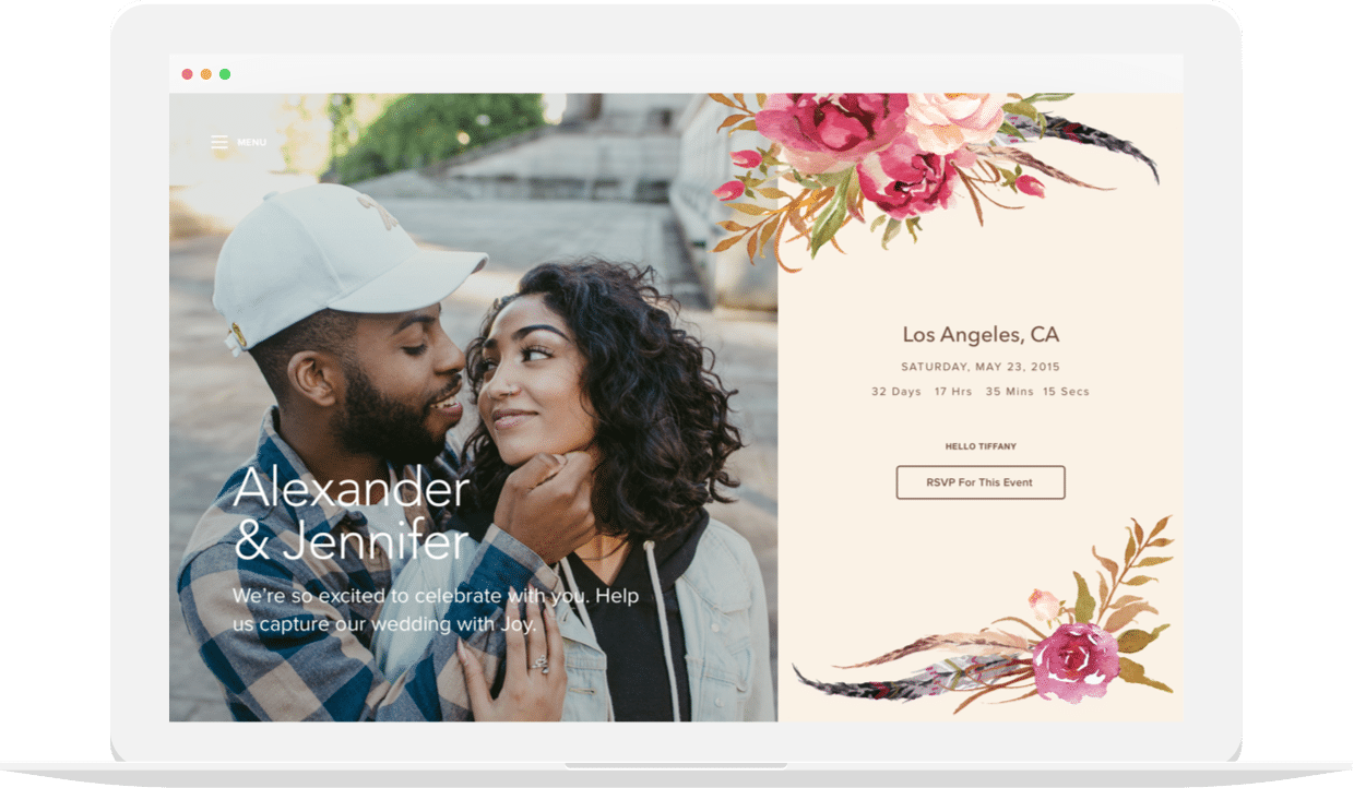Free Wedding Websites with Joy | RSVPs, Registry, and Checklists